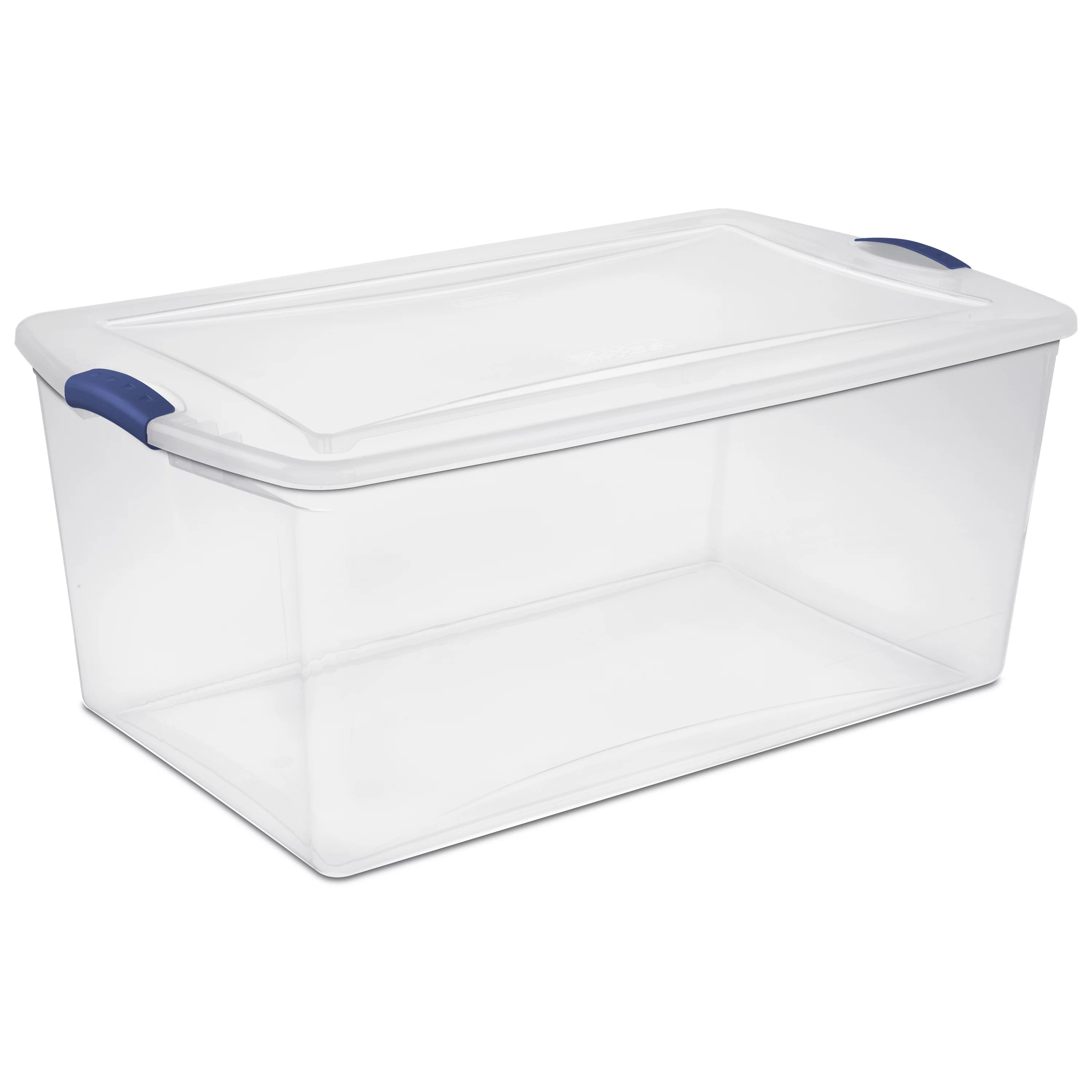 Best Kitchen Gallery: Sterilite 105 Qt 99 L Latch Box Stadium Blue Available In A Case of Plastic Storage Containers on rachelxblog.com