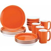 Rachael Ray 16-Piece Dinnerware Set, Round Square ...