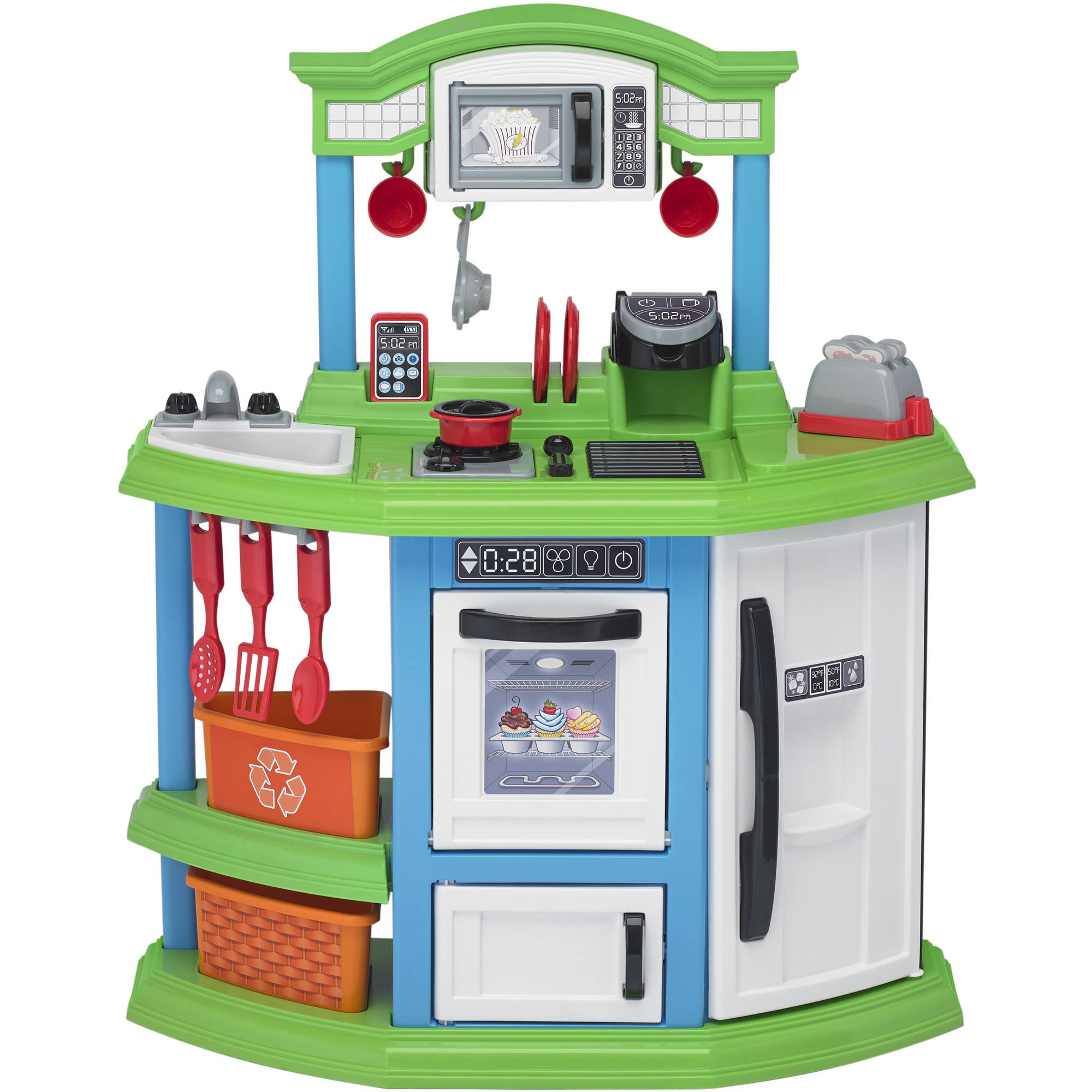 american plastic toys custom kitchen country style curtains buy deluxe with 22 accessories cozy comfort ft only 35 19