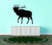 Deer Buck Elk Silhouette Antler Animal Vinyl Wall Decal ...