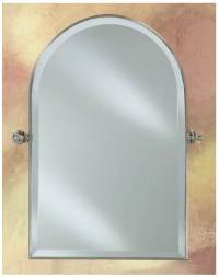 Arched Top Decorative Beveled Wall Mirror with Adjustable ...