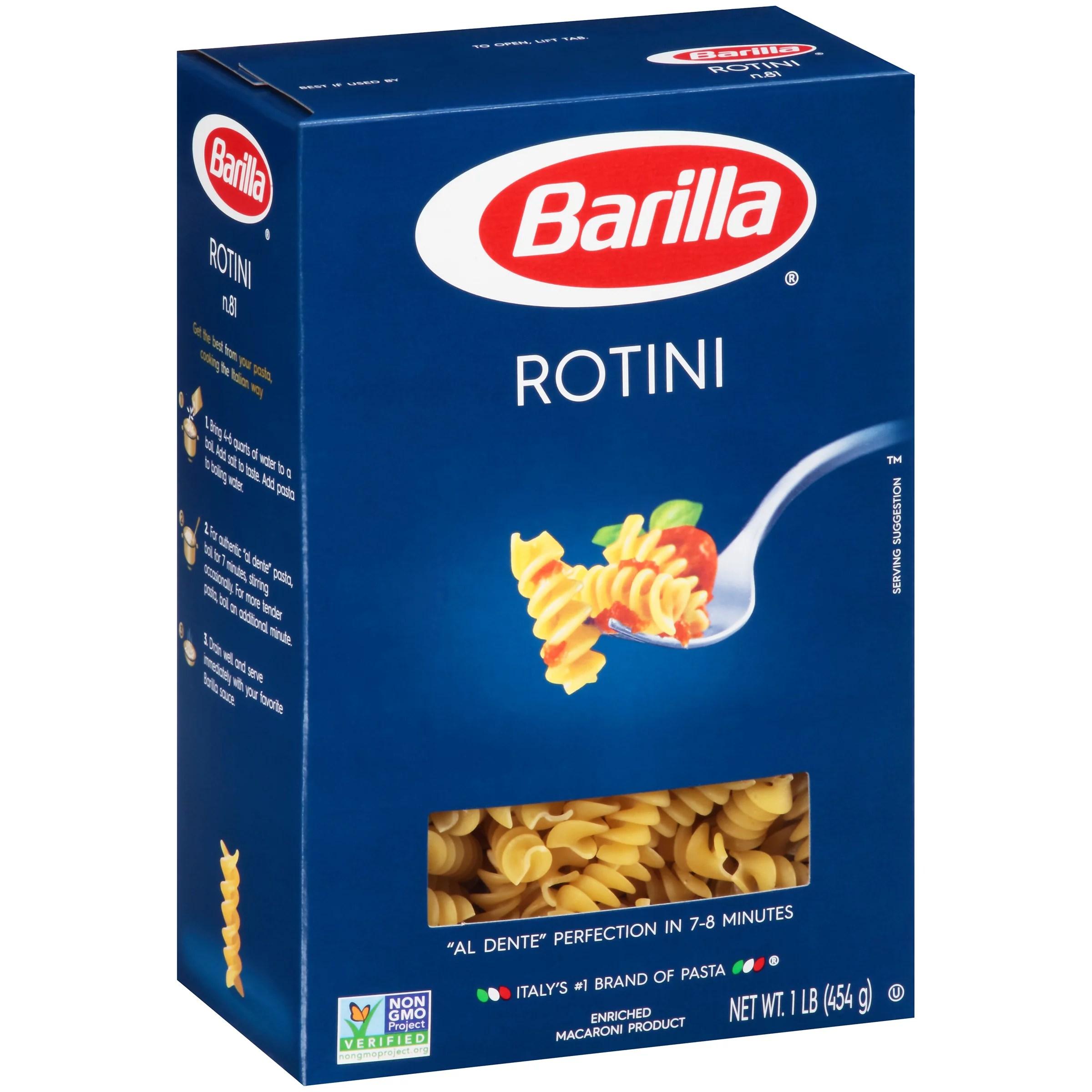Barilla Rotini Pasta 1 lb Walmartcom