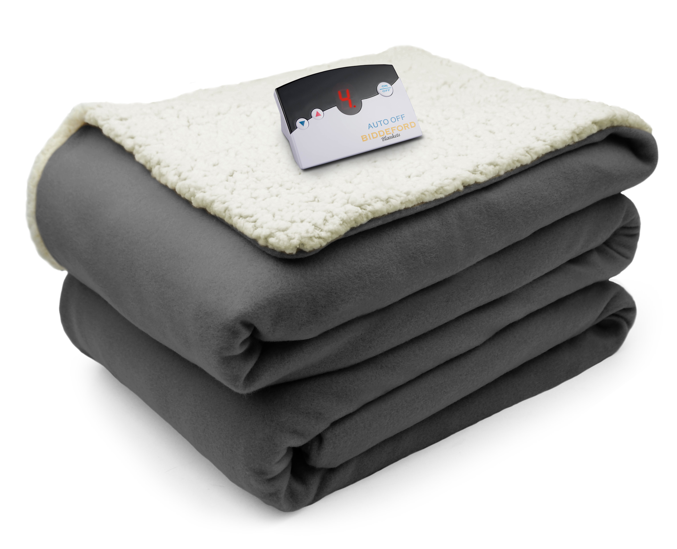 Biddeford Comfort Knit Sherpa Electric Heated Blanket - Walmart.com