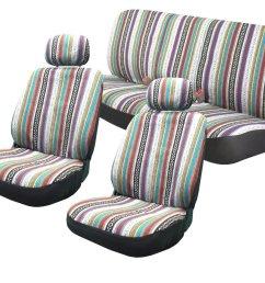 baja inca 8pc saddle blanket seat covers set front pair bench for saab walmart com [ 1500 x 1258 Pixel ]