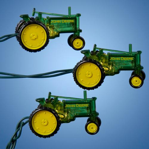 small resolution of set of 10 john deere tractor novelty christmas lights green wire walmart com
