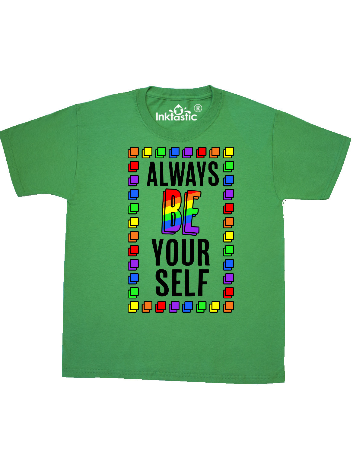 Always Be Yourself Lgbt Rainbow Youth T Shirt