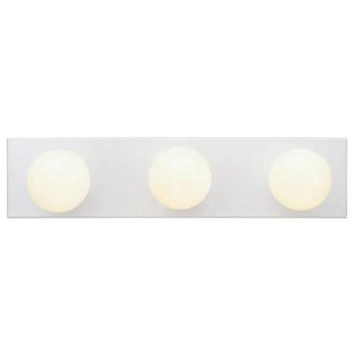 westinghouse 6659400 3 light white bathroom vanity light bar
