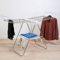 Everyday Home Sturdy Adjustable Gullwing Drying Rack with ...
