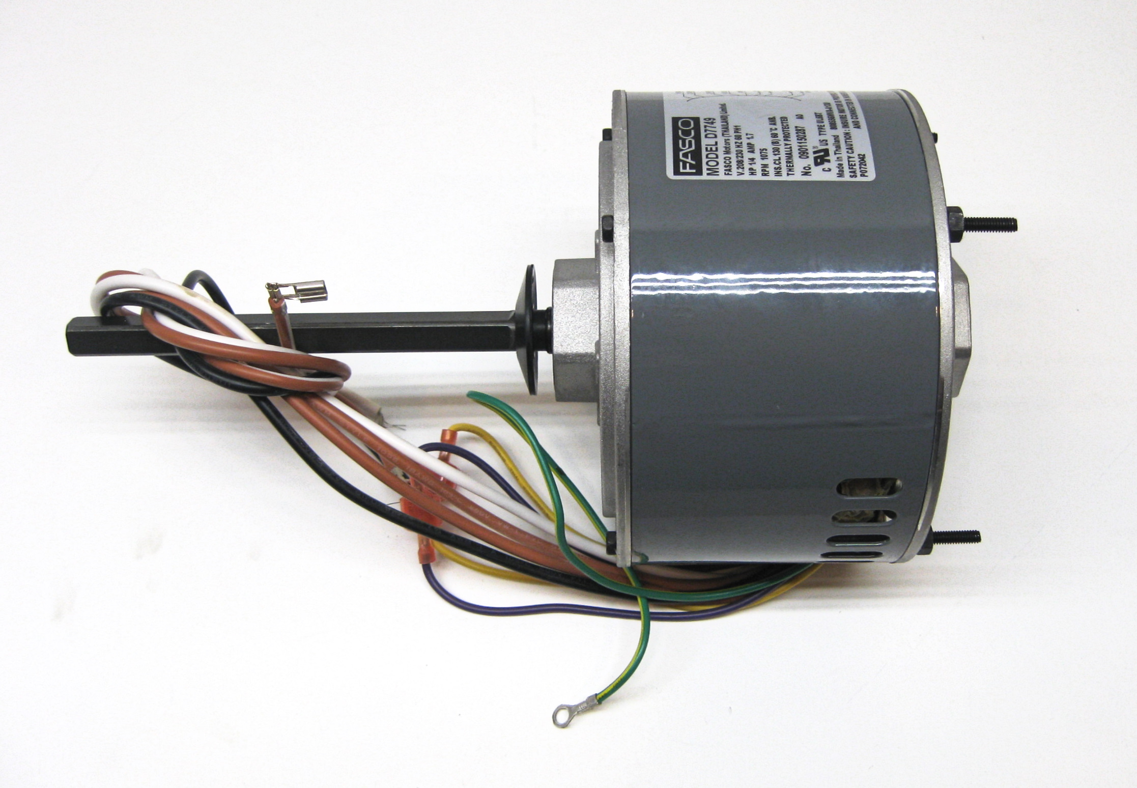 small resolution of air conditioner condenser fan motor shaft up 1 4 hp 230 volts 1075 x 13 motor wiring diagram fasco condenser fan motor wiring diagram