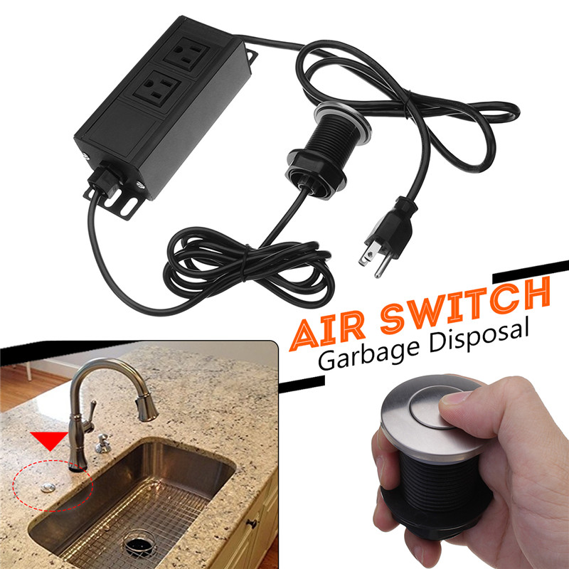 110v garbage disposal air switch unit