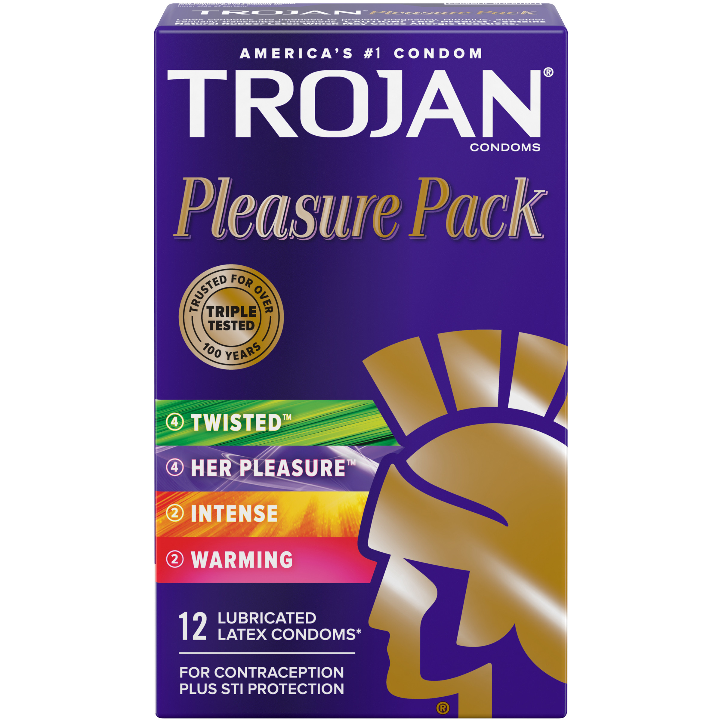 trojan pleasure variety pack lubricated condoms 12 count walmart com