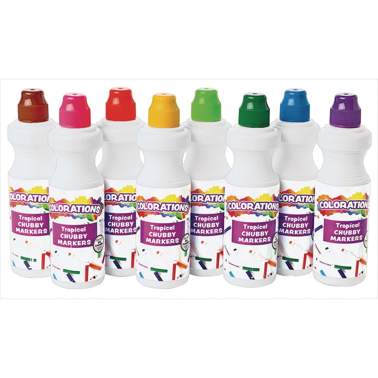 Dabber Markers Washable Tropical Colors 8 Colors Dot