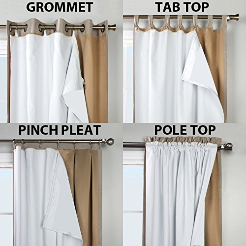 thermaplus superior liner blackout curtain lining by commonwealth home fashions 45 wide by 77 long
