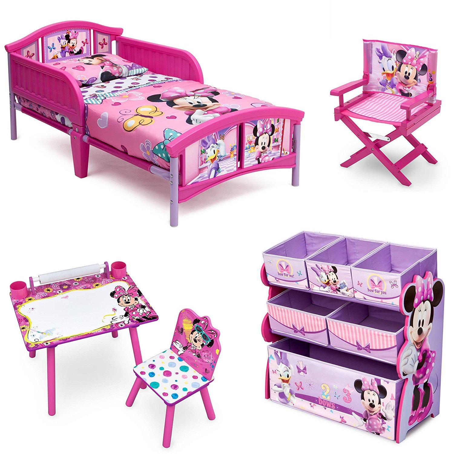 minnie mouse chair walmart sports bar tables and chairs disney room in a box 4 piece com departments