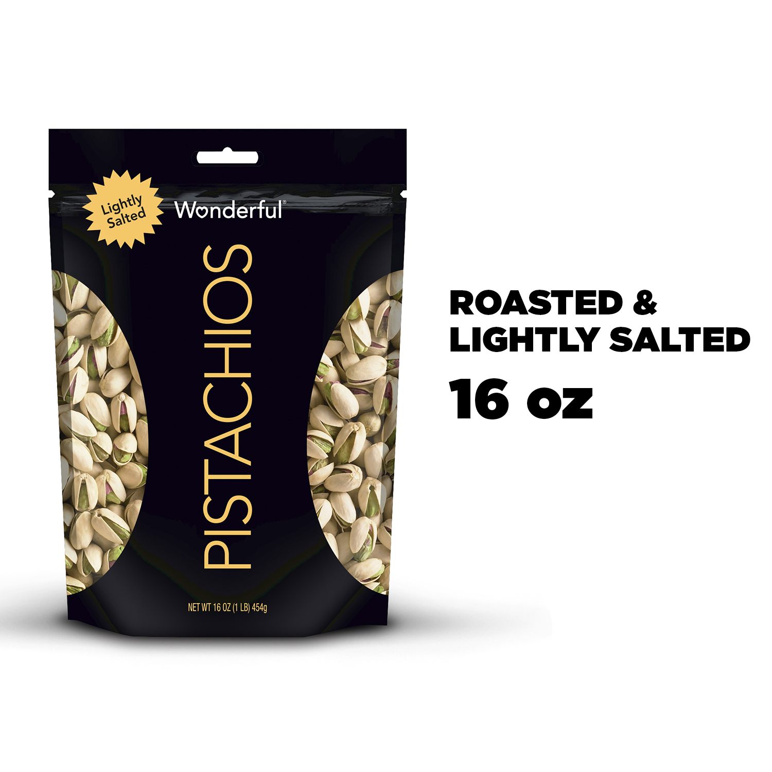 Wonderful Pistachios, Lightly Salted, 16 Oz