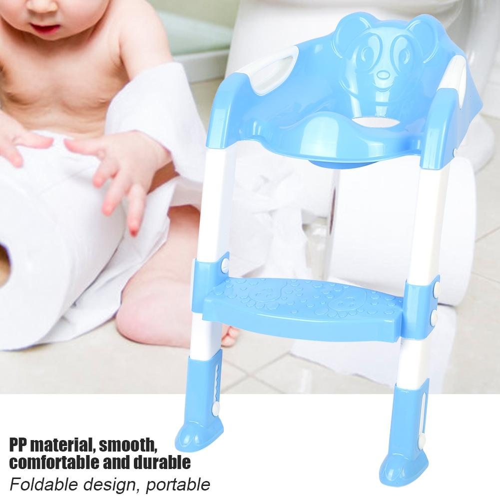 potty chair with ladder covers for computer chairs filfeel portable baby toddler toilet foldable adjustable kids safety training seat trainer toddlers walmart com