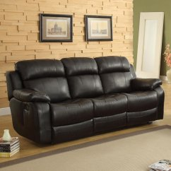 Darrin Leather Sofa Reviews Floor Lamp Behind Weston Home Reclining With Console