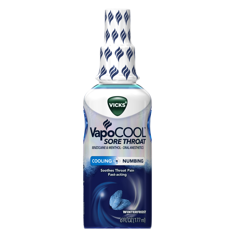Vicks VapoCool Sore Throat Numbing Spray Medicine ...