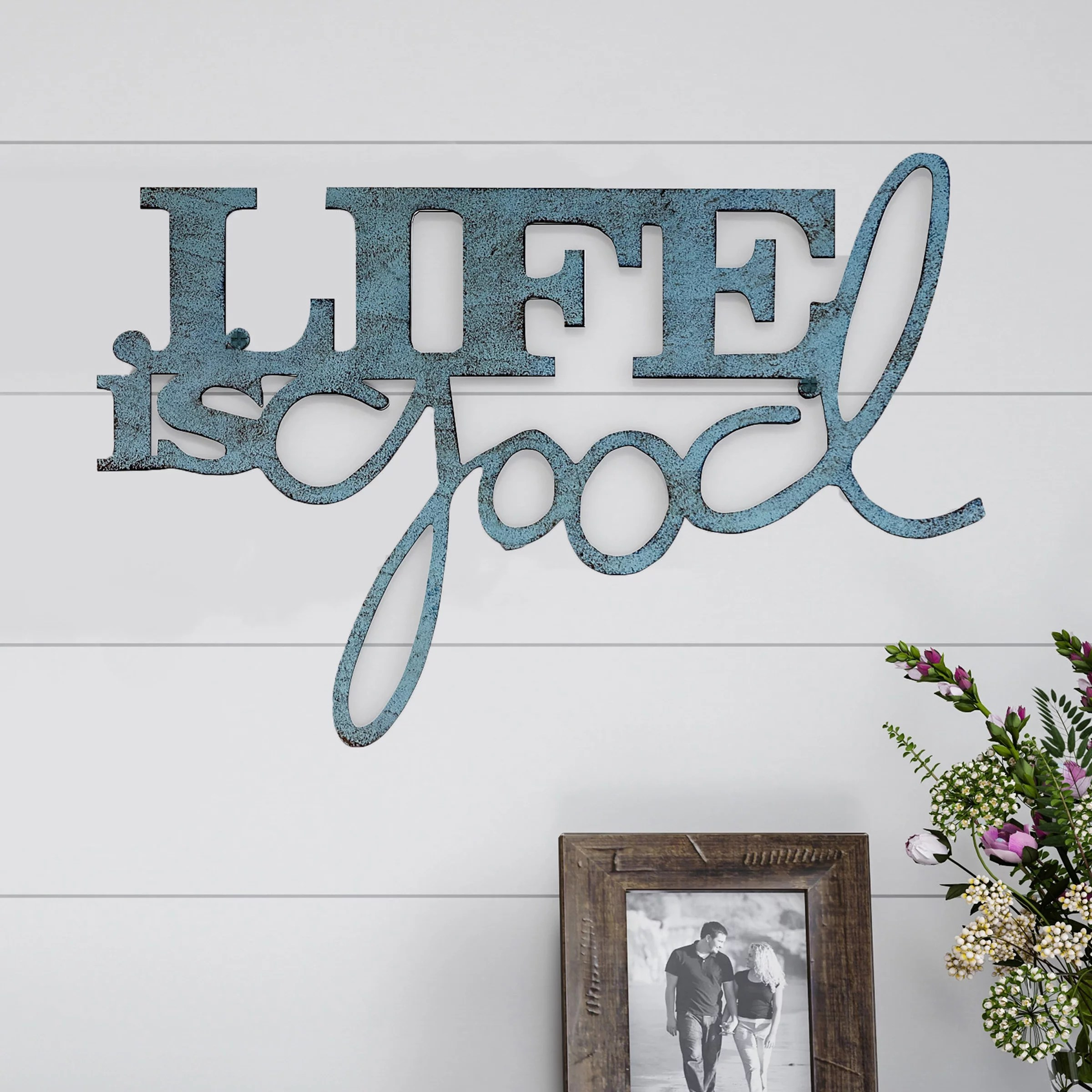Metal Cutout Life Is Good Decorative Wall Sign 3d Word