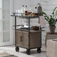 Belham Living Jamestown Industrial Bar Cart - Walmart.com