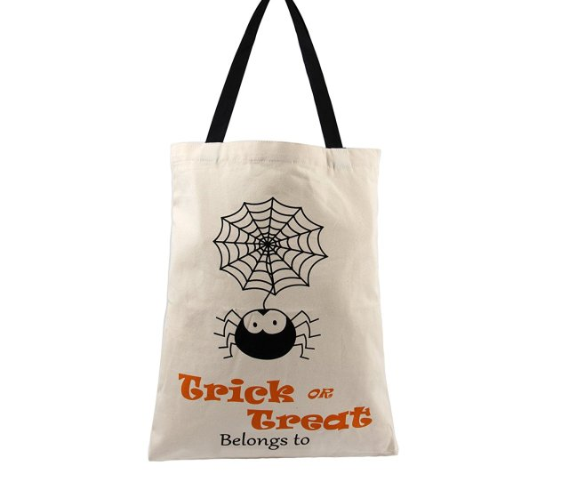 Halloween Candy Bags Durable Canvas Halloween Gift Bags Or Halloween Treat Bags For Kids Drawstring Trick
