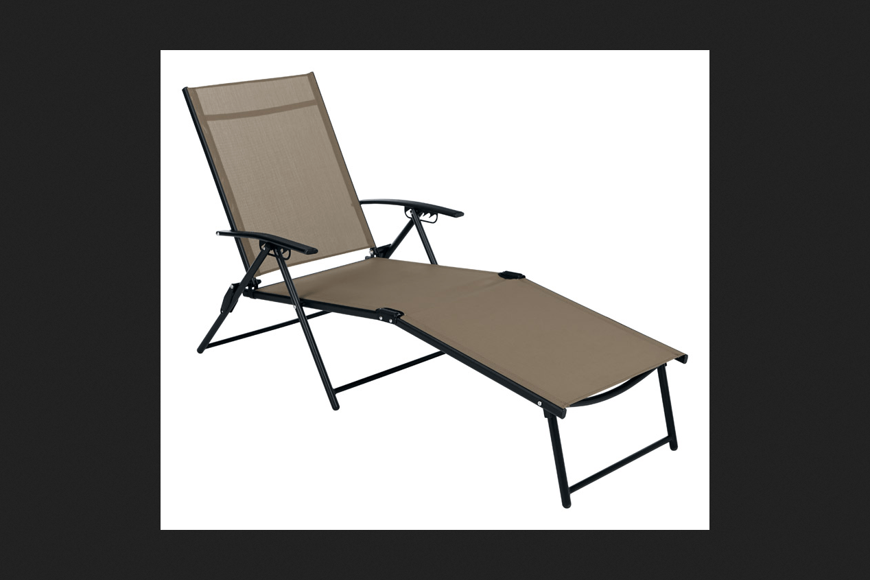 Living Accents Sling Folding Chaise  Walmartcom