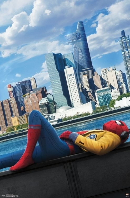 spider man homecoming city laminated poster print 22 x 34