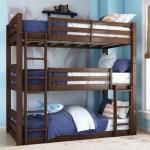 Better Homes And Gardens Tristan Wooden Triple Floor Bunk Bed Mocha Walmart Com Walmart Com