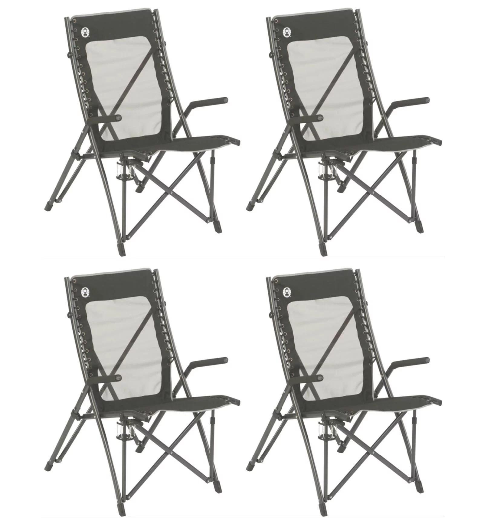 coleman folding chairs foldable floor chair singapore 4 comfortsmart suspension camping w mesh back bag walmart com
