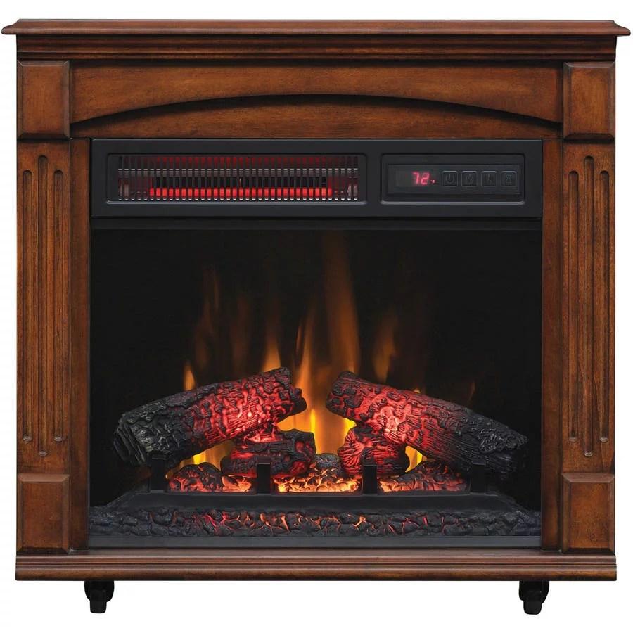 ChimneyFree Electric Infrared Quartz Fireplace with Remote 5200 BTU Cherry  eBay