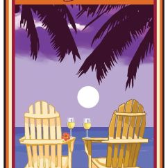 Key West Chairs Chair With Desk Attached Uk Florida Adirondack Palms White Wine Travel Art Print Poster By Joanne Kollman