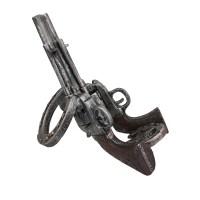 Western Revolver and Horseshoe Tabletop Wine Bottle Holder ...