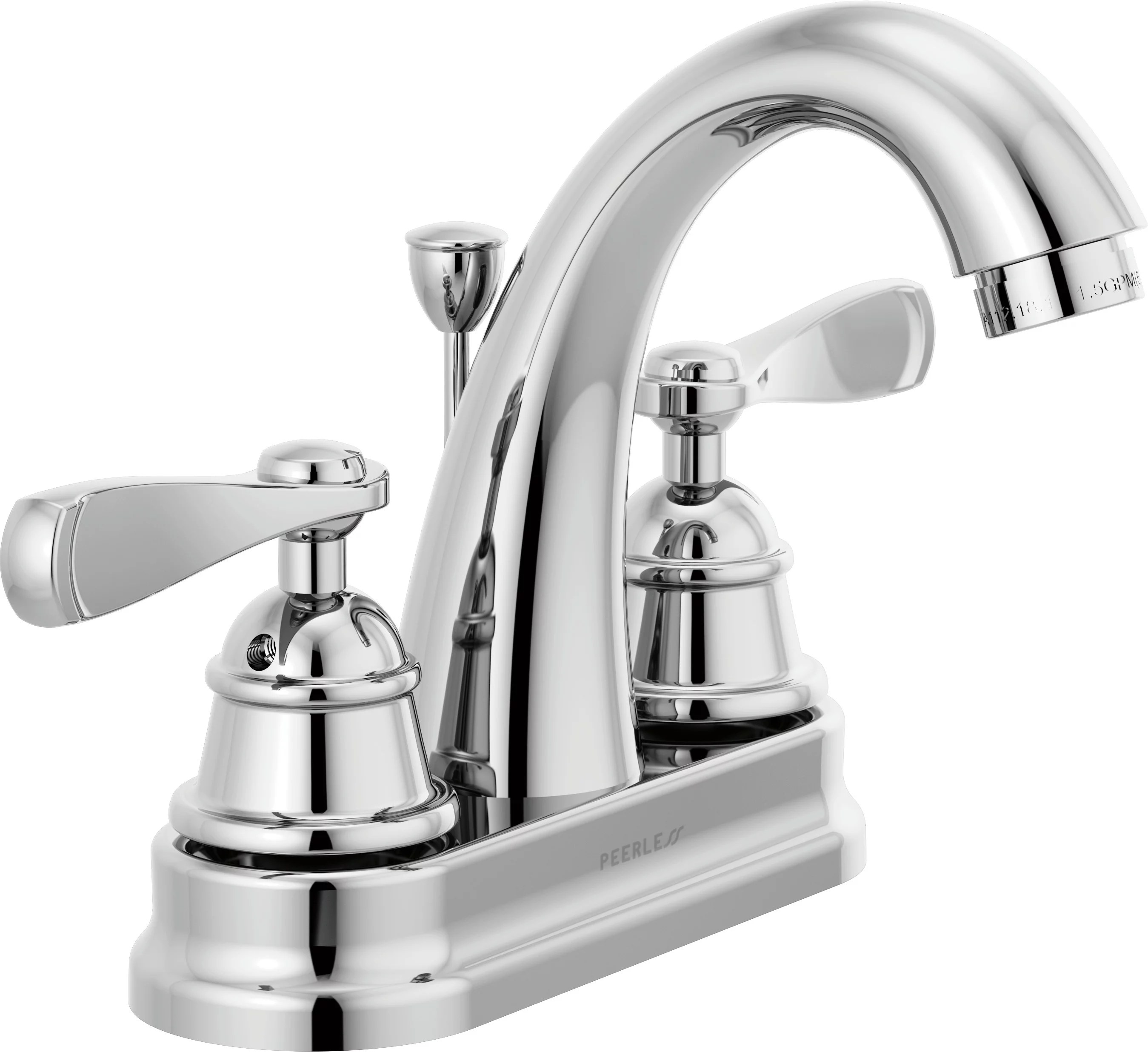 peerless centerset two handle bathroom faucet in chrome