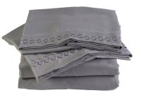 Charcoal Stone Gray Microfiber Bed Sheet Set -Twin XL ...