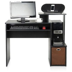 Computer Desk And Chair Set Cover Hire Bury St Edmunds Furinno 12095bk Br Econ Multipurpose Home Office Choose Your