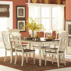 White 6 Chair Dining Table Folding Camping Chairs Walmart Homelegance Weston Home Ohana 7 Piece Rectangle Set Amp Cherry Com