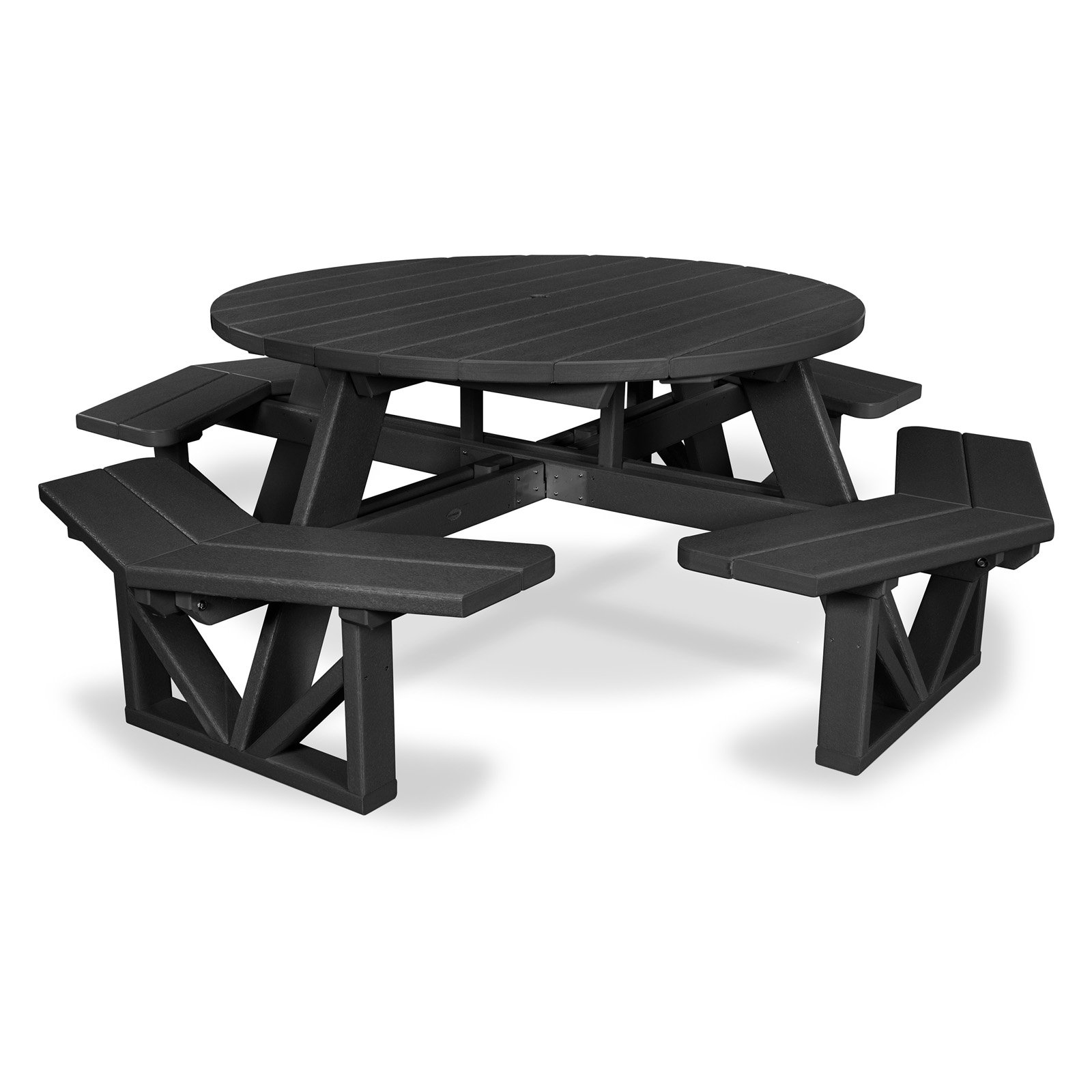 polywood park recycled plastic 53 in octagon commercial picnic table
