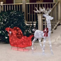 "Christmas Outdoor Decoration Pre Lit Deer 52"" Reindeer 40 ..."