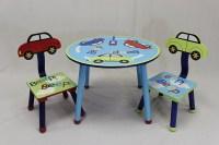 eHemco 3 Piece Kids Table and Chair Set - Car Theme ...