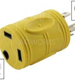 ac works rvl1430tt generator 4prong l14 30p 30amp locking plug to rv tt 30 rv 30amp female connector walmart com [ 3682 x 2881 Pixel ]