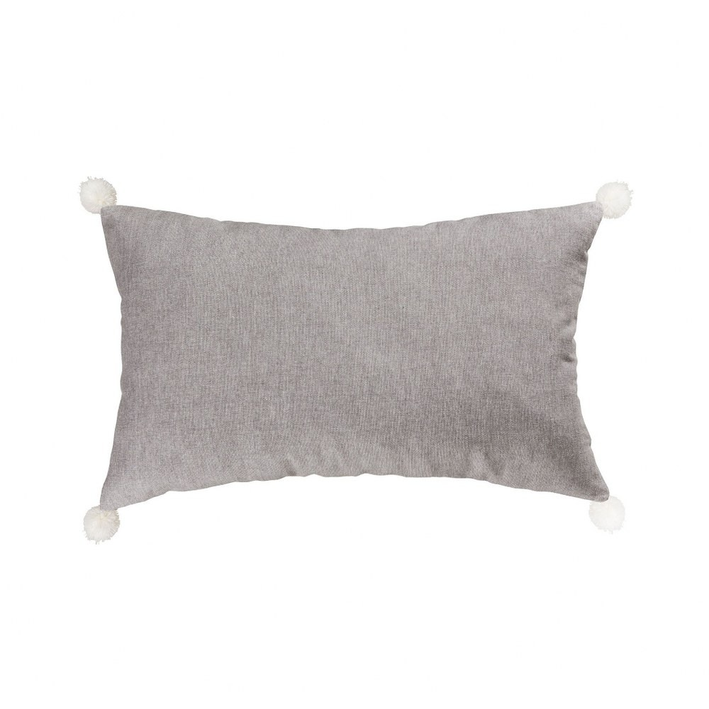 light grey silver lumbar pillow cover 16x26 inch lumbar pillow cover only grey white colors bailey