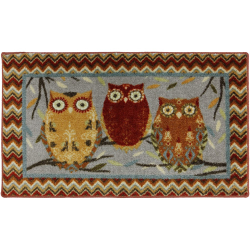owl kitchen rugs ceiling lighting fixtures mohawk mhk hoot owls 20x34 rug walmart com