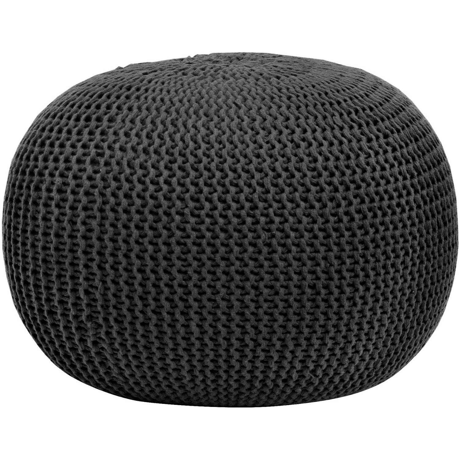 Pouf Chair Urban Shop Round Knit Pouf Stool Poof Floor Cover Decor