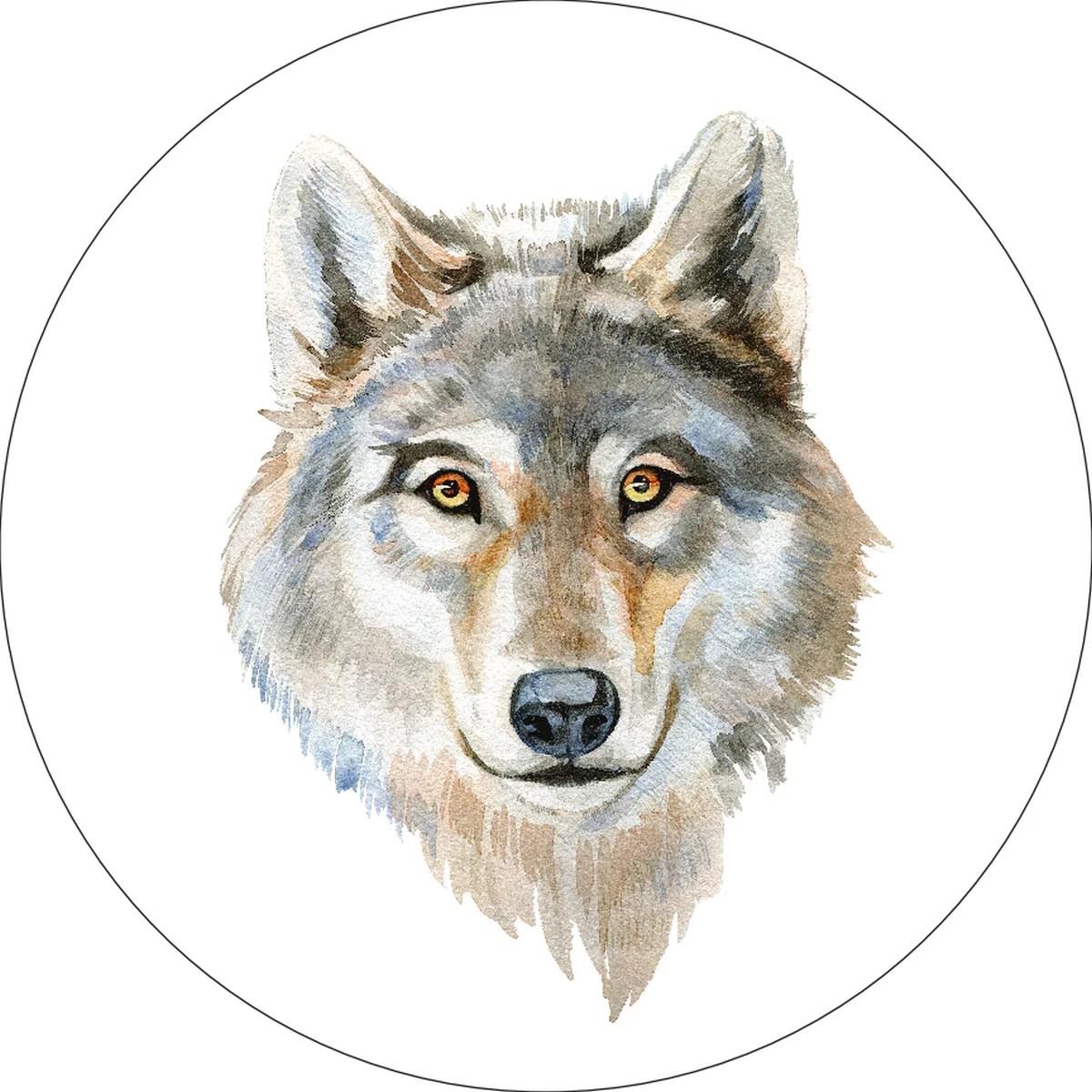 Wolf Home Wall Shelf Decor Animal Decorations Watercolor