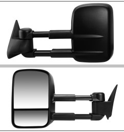 for 2003 to 2007 chevy silverado gmc sierra manual adjustment telescoping towing mirror left driver walmart com [ 1200 x 1200 Pixel ]