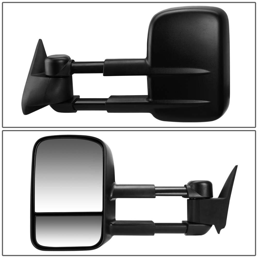 medium resolution of for 2003 to 2007 chevy silverado gmc sierra manual adjustment telescoping towing mirror left driver walmart com