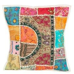 Bright Colored Sofa Pillows Seat Saver Tribeazure 16 Quot X Boho Hippie Floral Throw Pillow Case