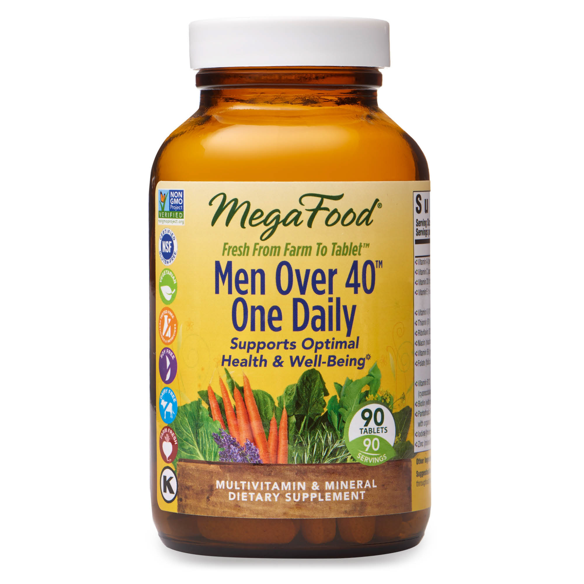 Megafood Men Over 40 One Daily Daily Multivitamin And