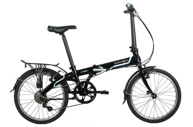 Dahon Vybe D7 Tour Obsidian with Fenders and Rear Rack ...