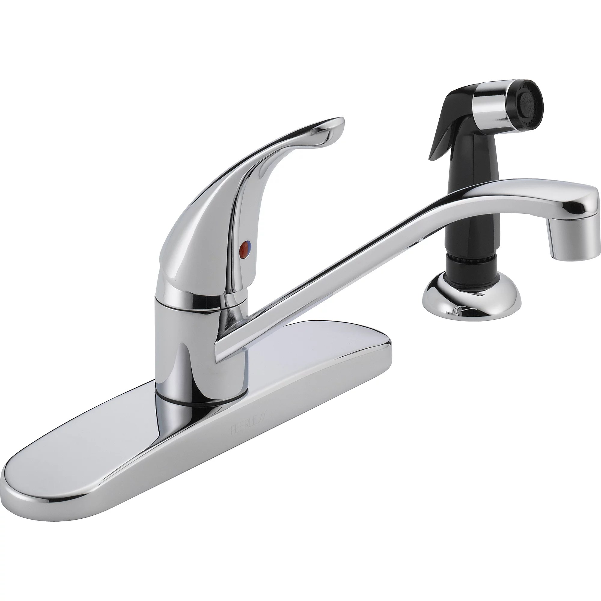 Peerless Single Handle Kitchen Faucet with Side Sprayer